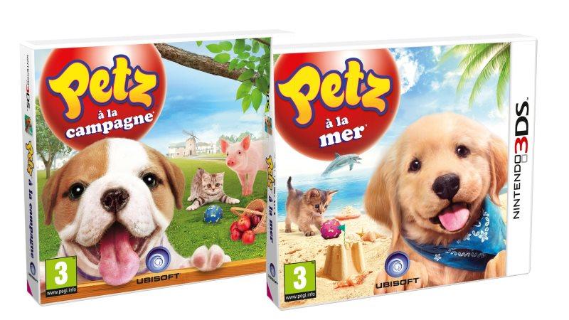 PETZ à la mer et Petz à la plage sur 2DS et 3DS