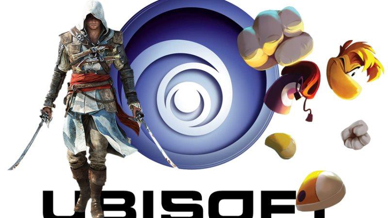 Logo Ubisoft agrémenté d'Assassin's Creed et Rayman